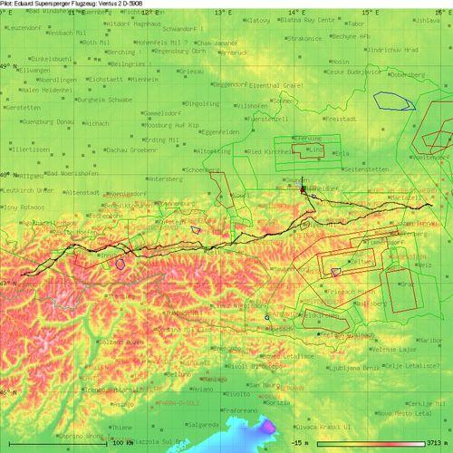 sis-at Tageswertung - Segelflug über 925 km von Micheldorf