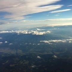 Flugwegposition um 13:16:42: Aufgenommen in der Nähe von Gemeinde Soboth, Österreich in 4672 Meter