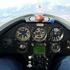 Flugwegposition um 09:21:17: Aufgenommen in der Nähe von Gemeinde Scheffau am Wilden Kaiser, Österreich in 2309 Meter