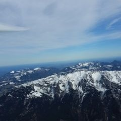 Flugwegposition um 09:23:33: Aufgenommen in der Nähe von Gemeinde Scheffau am Wilden Kaiser, Österreich in 2504 Meter
