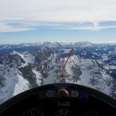 Flugwegposition um 09:23:38: Aufgenommen in der Nähe von Gemeinde Scheffau am Wilden Kaiser, Österreich in 2510 Meter