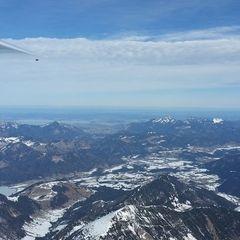 Flugwegposition um 10:56:41: Aufgenommen in der Nähe von Gemeinde Kufstein, Österreich in 2921 Meter