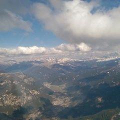 Flugwegposition um 13:48:42: Aufgenommen in der Nähe von 38033 Cavalese, Trentino, Italien in 2825 Meter