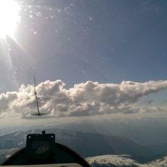 Flugwegposition um 14:46:46: Aufgenommen in der Nähe von 39030 Enneberg, Bozen, Italien in 3053 Meter