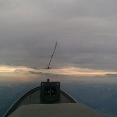 Flugwegposition um 14:47:49: Aufgenommen in der Nähe von Gemeinde Scheffau am Wilden Kaiser, Österreich in 2766 Meter
