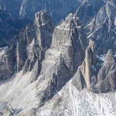Flugwegposition um 12:21:08: Aufgenommen in der Nähe von Auronzo di Cadore, Belluno, Italien in 3473 Meter