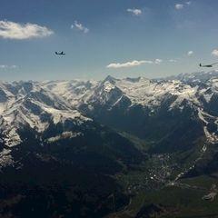 Flugwegposition um 13:04:39: Aufgenommen in der Nähe von Gemeinde Zell am See, 5700, Österreich in 2678 Meter