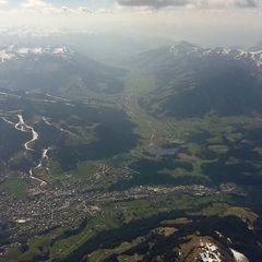 Flugwegposition um 13:39:01: Aufgenommen in der Nähe von Gemeinde Kitzbühel, 6370, Österreich in 2857 Meter