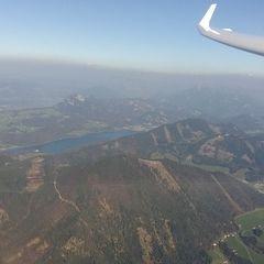 Flugwegposition um 14:55:05: Aufgenommen in der Nähe von Gemeinde Ebenau, Österreich in 1966 Meter