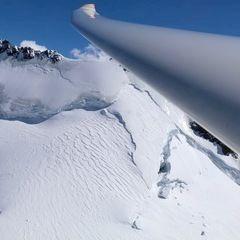 Flugwegposition um 11:52:44: Aufgenommen in der Nähe von Bezirk Inn, Schweiz in 2954 Meter