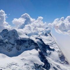 Flugwegposition um 11:50:44: Aufgenommen in der Nähe von Gemeinde Pfunds, 6542, Österreich in 2887 Meter