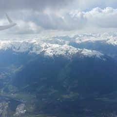 Flugwegposition um 11:55:57: Aufgenommen in der Nähe von Mals, Bozen, Italien in 3815 Meter