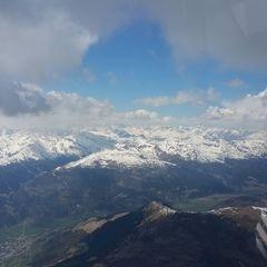 Flugwegposition um 11:55:52: Aufgenommen in der Nähe von Mals, Bozen, Italien in 3806 Meter