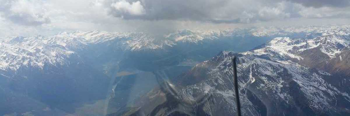 Flugwegposition um 11:42:29: Aufgenommen in der Nähe von 39020 Schnals, Bozen, Italien in 3649 Meter