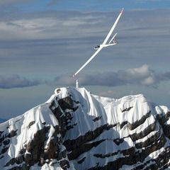 Flugwegposition um 15:39:58: Aufgenommen in der Nähe von Gemeinde Filzmoos, 5532, Österreich in 3057 Meter