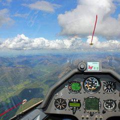 Flugwegposition um 15:08:51: Aufgenommen in der Nähe von Gemeinde Roßleithen, 4575, Österreich in 1854 Meter