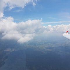 Flugwegposition um 09:23:40: Aufgenommen in der Nähe von Freyung-Grafenau, Deutschland in 1784 Meter