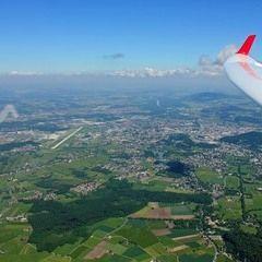 Flugwegposition um 09:12:24: Aufgenommen in der Nähe von Berchtesgadener Land, Deutschland in 2084 Meter