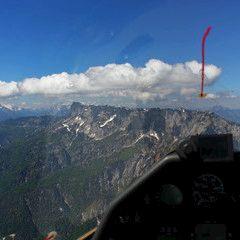 Flugwegposition um 09:12:34: Aufgenommen in der Nähe von Berchtesgadener Land, Deutschland in 2087 Meter
