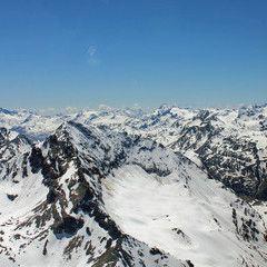Flugwegposition um 12:57:45: Aufgenommen in der Nähe von Hinterrhein, Schweiz in 3190 Meter