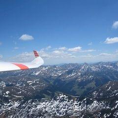 Flugwegposition um 12:12:17: Aufgenommen in der Nähe von Donnersbach, Österreich in 2554 Meter