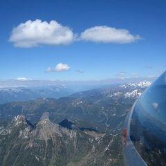 Flugwegposition um 13:10:51: Aufgenommen in der Nähe von Gemeinde Untertauern, Österreich in 2787 Meter