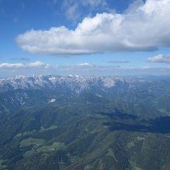 Flugwegposition um 14:25:08: Aufgenommen in der Nähe von St. Katharein an der Laming, 8611, Österreich in 2525 Meter