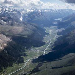 Flugwegposition um 12:13:52: Aufgenommen in der Nähe von Gemeinde St. Leonhard im Pitztal, 6481, Österreich in 3754 Meter