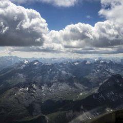 Flugwegposition um 12:15:02: Aufgenommen in der Nähe von Gemeinde St. Leonhard im Pitztal, 6481, Österreich in 3813 Meter