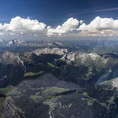 Flugwegposition um 12:23:20: Aufgenommen in der Nähe von Gemeinde Pfunds, 6542, Österreich in 3541 Meter