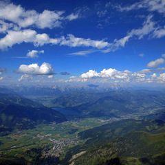 Flugwegposition um 14:14:35: Aufgenommen in der Nähe von Gemeinde Fusch an der Großglocknerstraße, 5672, Österreich in 2858 Meter