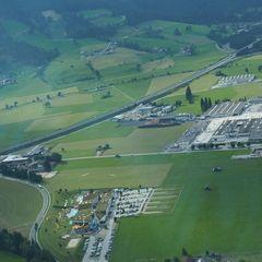 Flugwegposition um 15:30:28: Aufgenommen in der Nähe von Gemeinde Flachau, Österreich in 1147 Meter