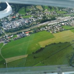 Flugwegposition um 15:36:24: Aufgenommen in der Nähe von Gemeinde Radstadt, Österreich in 1310 Meter