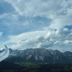 Flugwegposition um 15:42:57: Aufgenommen in der Nähe von Rohrmoos-Untertal, 8971 Schladming, Österreich in 1416 Meter