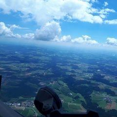 Verortung via Georeferenzierung der Kamera: Aufgenommen in der Nähe von Passau, Deutschland in 2000 Meter
