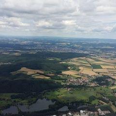Flugwegposition um 11:40:15: Aufgenommen in der Nähe von Neustadt a.d.Waldnaab, Deutschland in 1156 Meter