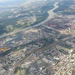 Flugwegposition um 14:52:42: Aufgenommen in der Nähe von Linz, Österreich in 1668 Meter