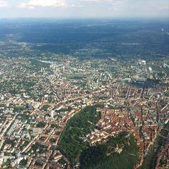 Flugwegposition um 14:54:54: Aufgenommen in der Nähe von Graz, Österreich in 1432 Meter