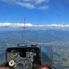 Flugwegposition um 14:02:44: Aufgenommen in der Nähe von Gemeinde Frantschach-Sankt Gertraud, Österreich in 2084 Meter