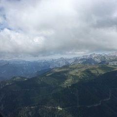 Flugwegposition um 10:25:36: Aufgenommen in der Nähe von Aflenz Land, Österreich in 1809 Meter