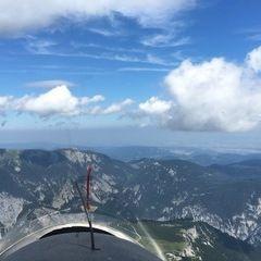 Flugwegposition um 12:13:11: Aufgenommen in der Nähe von Gemeinde Reichenau an der Rax, Österreich in 2233 Meter