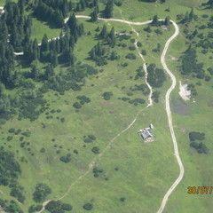 Flugwegposition um 09:03:39: Aufgenommen in der Nähe von Aflenz Land, Österreich in 995 Meter