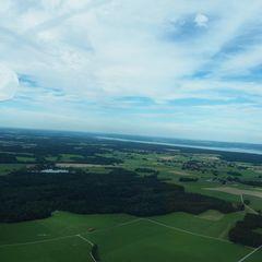 Flugwegposition um 14:30:32: Aufgenommen in der Nähe von Landsberg am Lech, Deutschland in 1107 Meter