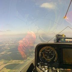 Flugwegposition um 12:23:40: Aufgenommen in der Nähe von Okres Prachatice, Tschechien in 1666 Meter