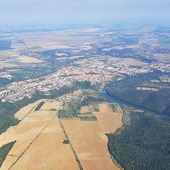 Verortung via Georeferenzierung der Kamera: Aufgenommen in der Nähe von Okres Znojmo, Tschechien in 1400 Meter