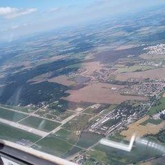 Flugwegposition um 11:45:05: Aufgenommen in der Nähe von Okres České Budějovice, Tschechien in 1525 Meter