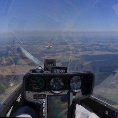 Flugwegposition um 12:19:21: Aufgenommen in der Nähe von Okres Tábor, Tschechien in 1735 Meter