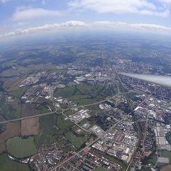 Flugwegposition um 11:25:00: Aufgenommen in der Nähe von Okres České Budějovice, Tschechien in 1716 Meter