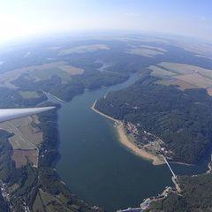 Flugwegposition um 14:53:15: Aufgenommen in der Nähe von Okres Znojmo, Tschechien in 1448 Meter