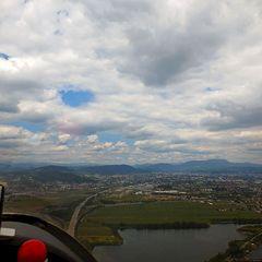 Flugwegposition um 10:55:12: Aufgenommen in der Nähe von Gemeinde Seiersberg, Österreich in 771 Meter